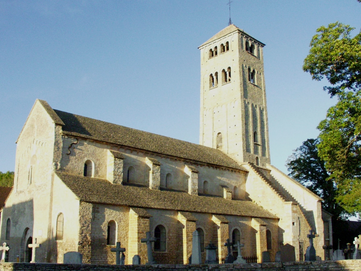 The beautiful Church of St. Martin of Chapaize